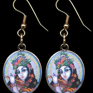 Let Krishna whisper into your ears with these elegant ear rings!